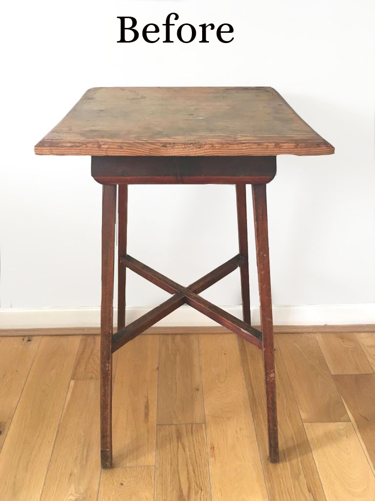 Old Table needs a coat of vintro chalk paint