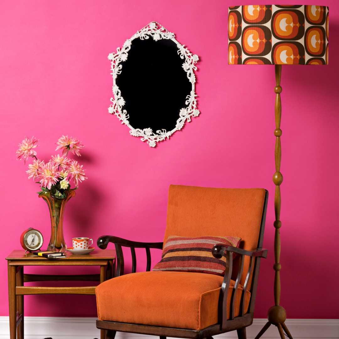 retro-fusion style interior trends 2019 2020 matt emulsion wall paint vintro