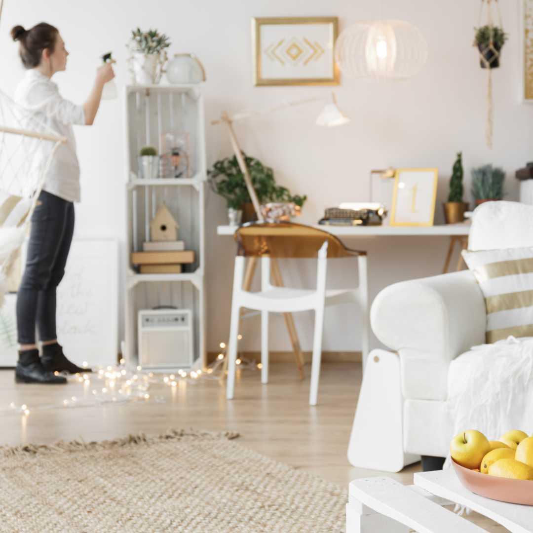 Scandi-style room with matt emulsion vintro paint interior trends 2020